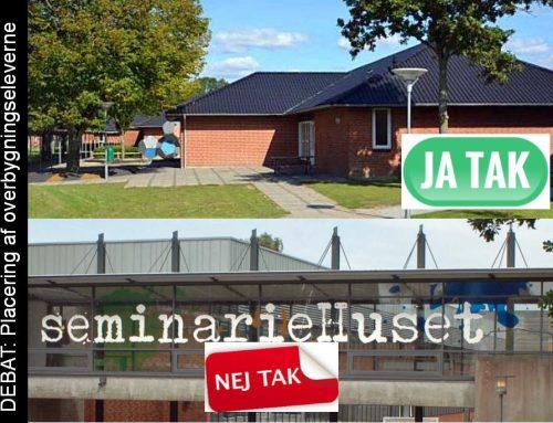 Debatten omkring idéudkastet til fælles overbygningsskole i SeminarieHuset fortsætter!