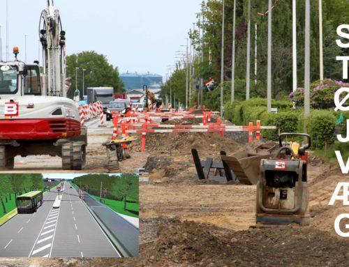 Status Rute 11: Inden for de næste uger opsættes støjvæg – og tunnellen – dateret 2019 –  i ny fase